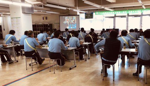 岐阜中央郵便局で放送部映像作品が学習用に上映されました